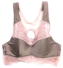 SILK WITH LEAVERS LACE COCO BRA TOP HONEY