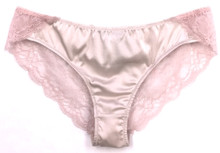 SILK WITH LEAVERS LACE ELOISE BRIEF POWDER