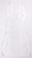 FILIGREE CORSET CHEMISE WHITE DIAMOND