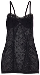 FILIGREE CORSET CHEMISE BLACK DIAMOND