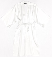 HONEYMOON CLASSIC SILK KIMONO WHITE