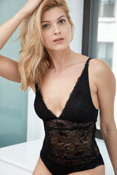ALL LACE GLAMOUR BODYSUIT BLACK