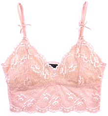 ALL LACE CLASSIC CROP TOP BRALETTE PEONY