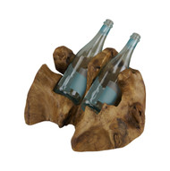 Carved Wine Holder - 2 Bottles