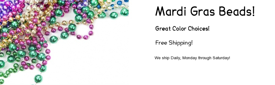 Mardi Gras Beads with Everyday Free Shipping
