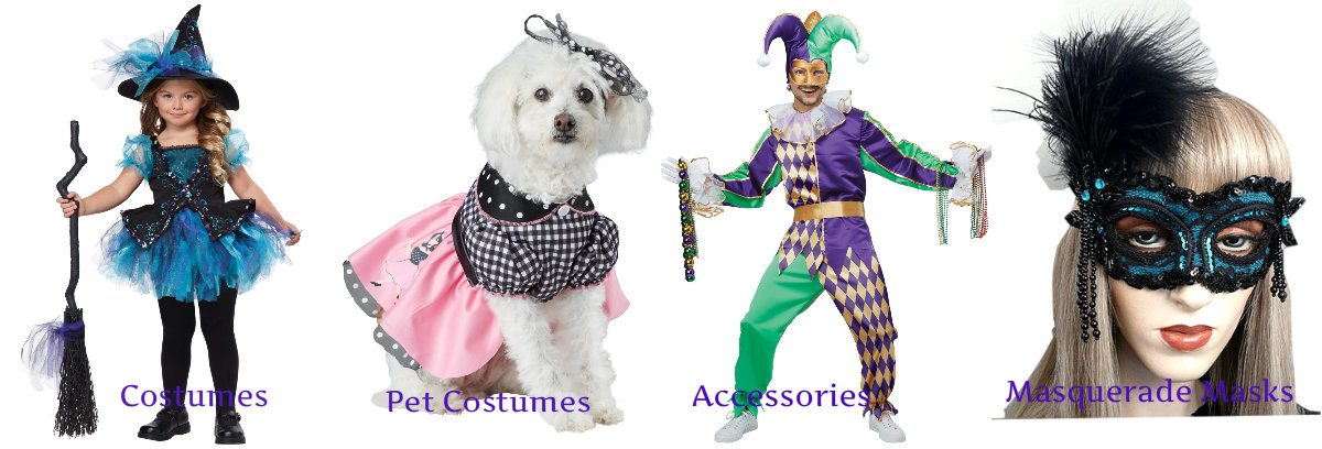 Children, Teen, Adult and Pet Costumes