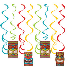 Tiki Time 8 Ct Dizzy Danglers Hanging Decorations Summer Luau Pool Party