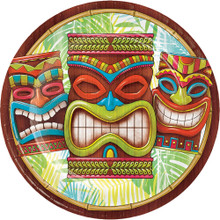 "Tiki Time 8 Ct Lunch Dinner 9"" Paper Plates Summer Pool Party Luau"