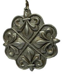 Fleur de Lis Silver Tiles Mardi Gras Bead Necklace Party Favor