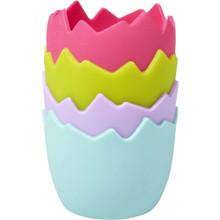 Wilton Jumbo Broken Egg Silicone Baking Treat Cups 4 Ct Easter