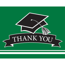 Emerald Green Black 25 Ct Value Size Thank You cards Graduation School Spirit