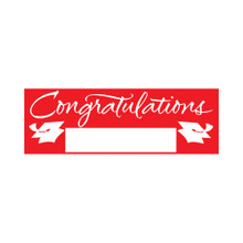 "Red Giant Party Banner 5' Graduation School Spirit ""Congratulations"""