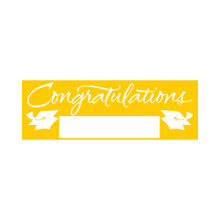 "Yellow Giant Party Banner 5' Graduation School Spirit ""Congratulations"""