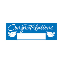 "Blue Giant Party Banner 5' Graduation School Spirit ""Congratulations"""