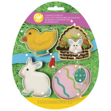Easter Spring Colorful Metal Assorted Cookie Cutters 7 Pc Set Bunny Chick Egg