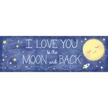 Baby Shower Moon and Back Giant Banner Party