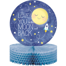 Baby Shower Moon and Back Centerpiece 10 inch