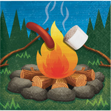 Camp Out 16 Ct Beverage Napkins Birthday Party Campfire Camping