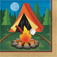 Camp Out 16 Ct Luncheon Napkins Birthday Party Campfire Camping