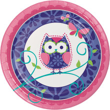 "Owl Pal 9"" Lunch Dinner 8 Ct Plates Birthday Party"