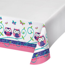 Owl Pal Plastic 54 x 108 Tablecover Birthday Party