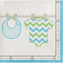 Bundle of Joy Boy Blue Beverage Napkins 16 Ct Baby Shower