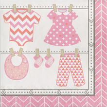 Bundle of Joy Girl Pink Luncheon Napkins 16 Ct Baby Shower