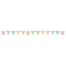 Carousel Ribbon Shaped Banner Horses Baby Shower 8 Ft