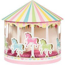 Carousel Centerpiece Baby Shower Table Decoration 3D with Honeycomb