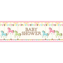 Carousel Baby Shower Giant Party Banner 5 Ft