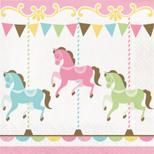 Carousel Baby Shower 16 Ct Lunch Napkins Boy or Girl