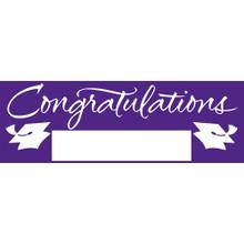 "Purple Giant Banner 5' Graduation School Spirit ""Congratulations"""