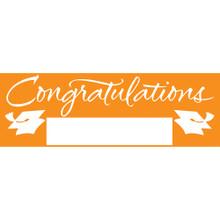 "Orange Giant Banner 5' Graduation School Spirit ""Congratulations"""