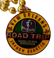 Road Trip New Orleans French Quarter Mardi Gras Bead Necklace