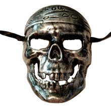 Pirate Skull Silver Buccaneer Pirates of the Caribbean Mask Halloween