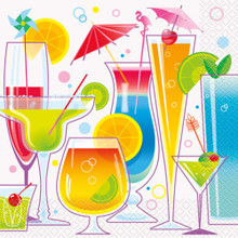 Summer Cocktail 16 Ct Paper Lunch Napkins