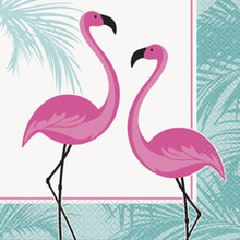 Pink Flamingo 16 Ct Paper Luncheon Napkins Palm