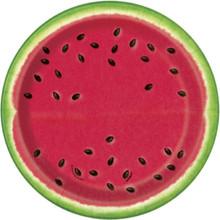 "Summer Watermelon 8 Ct 7"" Dessert Cake Plates Paper"