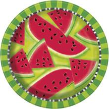 "Summer Watermelon 8 Ct 9"" Dinner Lunch Plates Paper"
