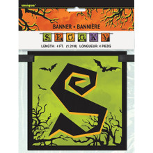 Spooky Haunted House Halloween 4 Ft Block Banner Decoration