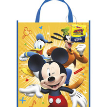 "Mickey Roadster Loot Favors Large Party Tote Bag 13"" x 11"""