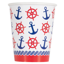 Nautical Summer 8 Ct Paper Hot Cold Cups Anchor