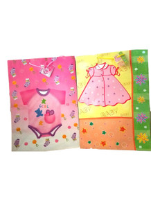 Baby Girl Shower 2 Gift Bags pack Jumbo 13 x 18 Romper and Dress