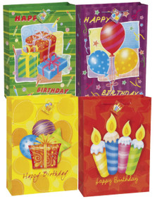 Happy Birthday Surprise 2 Asst Gift Bags pack Jumbo 13 x 18