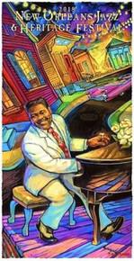 New Orleans Jazz Fest 2018 Poster #  Fats Domino artist Osborne Numbered Print