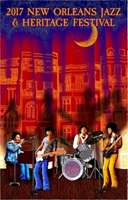 New Orleans Jazz Fest Poster Post Card 2017 The Meters by F Pavy