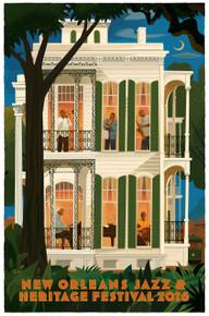 New Orleans Jazz Fest Poster Post Card 2016 Marsalis Family