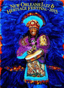 New Orleans Jazz Fest Poster Post Card 2015 Big Chief Bo Dollis