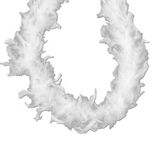 White 45 gm 6 ft Chandelle Feather Boa