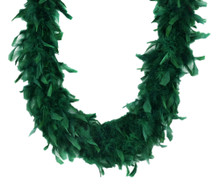 Emerald Green 45 Gm 6 Ft Mardi Gras Costume Chandelle Feather Boa